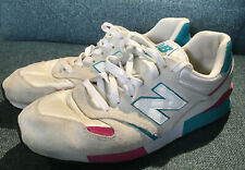 MENS NEW BALANCE 446 CLASSIC TRAINERS SIZE 10 UK. OATMEAL/TEAL/PNK/WHT
