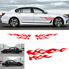 "11"" x 48"" Red Flame Graphic Decal Car Side Body Decoration Sticker Waterproof"