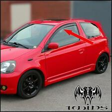Toyota Yaris 3 porte Deflettori Aria Antiturbo Oscurati 2001-2006 XP10