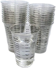 8oz Disposable Graduated Clear Plastic Cups for Mixing Paint Stain Epoxy Resin