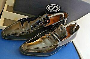 Francesco SMALTO ~Paris Smart Elegant Patent Leather Pointed Shoes UK 9 EU 43