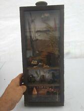 Primitive mountain man hillbilly farmstead Window Shadow Box Wood Miniatures