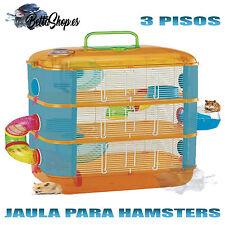 JAULAS PARA HAMSTERS JAULAS DE HAMSTERS JAULA HAMSTER 3 PISOS ROEDORES RATONES