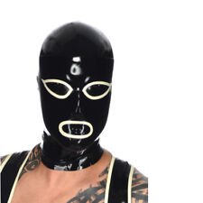Realistic Latex Mask Rubber Unisex Hood Gummi 0.4mm with Zipper for Catsuit Wear