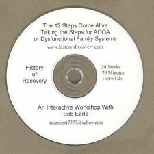 BOB EARLL 12 Steps of AA ACOA CODA ALANON Alcoholics Anonymous 6 CDs