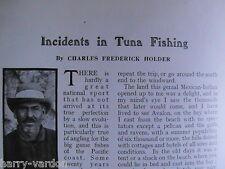 Tuna Fishing Wellman Airship Alresford Hants Partridge Golf Antique Article 1910