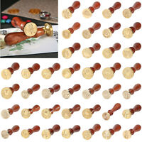 Retro Wood Handle Wax Seal Stamps Envelope Letter Wedding Sealing Wax Stamps UK