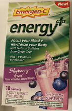 Emergen-C Energy Plus Blueberry Acai Dietary Supp Drink 18 packets Exp 08/2021