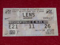 [COLLECTION SPORT FOOTBALL] TICKET PSG / LENS 8 SEPTEMBRE 2001 Champ.France