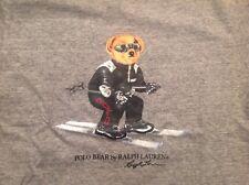 NWT Mens Polo Ralph Lauren Ski Bear Gray Crew T-Shirt Ltd Edition Sz 1XB/1G