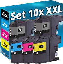 10x XL PATRONEN für BROTHER DCP-J132W J152W J552DW J4110DW MFC-J4410DW J4510DW