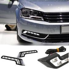 2pcs White 6LED L-Shaped Car Driving Lamp Fog 12V DRL Daytime Running Light