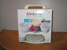 BRABANTIA *NEW* BLANC Set 3 plats micro-ondes Microwave dish set