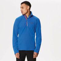 Regatta Mens Kenger Half Zip Fleece Top Blue Sports Outdoors Warm Breathable