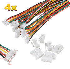4 Set (8 Stück)  6Pin 2.0 PH 2.0mm Mini Micro JST Stecker + 30cm Kabel + Buchse