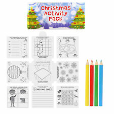 Christmas Party Loot Bag / Pinata / Stocking Fillers - 6 x Xmas Activity Pack