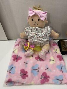 """Wee Baby Stella DollManhattan Toy 12"""" Soft Baby Doll Soft Nurturing Plush"""