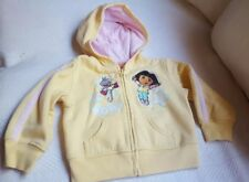 Sz 3T 2008 Nickelodeon DORA Girls yellow fall winter Style Sweater Jacket used