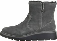 Clarks Women's Shoes ivery opal Suede Almond Toe Ankle Cold Weather Boots