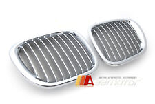 Chrome Silver Front Hood Kidney Grill Grilles for 1996-2002 Z3 Coupe Roadster