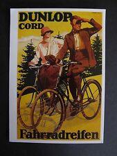Ältere Karte 1 Postkarte DUNLOP CORD Fahrradreifen PK 042