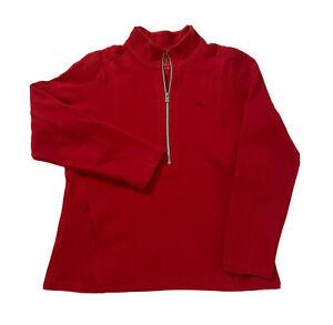 Tommy Bahama Half Zip Sweater Long Sleeve L Large Red Sweatshirt Mens