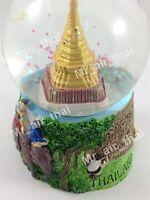 Vintage Snow Globe Water Art Glass Paper Weight 3D Resin Thai Souvenir Gift 010