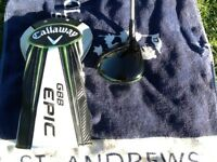 Callaway gbb epic driver,10.5 degree,Hzrdus stiff shaft,right handed