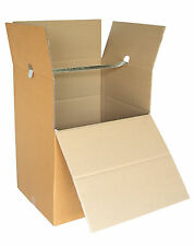 2x MINI PORTABLE WARDROBE MOVING BOXES PORT A ROBE CARDBOARD PACKING REMOVALIST