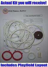 1974 Gottlieb Capt. Card Pinball Rubber Ring Kit - Captain Card