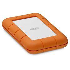 2TB LaCie Rugged Thunderbolt USB-C External Hard Drive - Orange