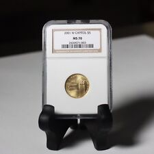 2001 W Capitol Gold NGC MS70 ***Rev. Tye's Stache***  #1003733