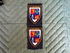Loire France Coat of arms patch lot 2 bevo weave German made original