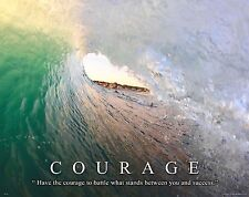 Surfing Motivational Poster Art Used Surfboard Longboard Wet Suit Shorts MVP200