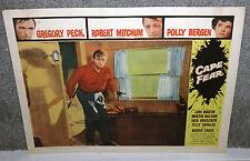 CAPE FEAR 11x14 GREGORY PECK original 1962 lobby card movie poster