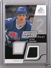 2008-2009 SP Game Used Hockey Peter Stastny Dual Authentic Fabrics Jersey Card
