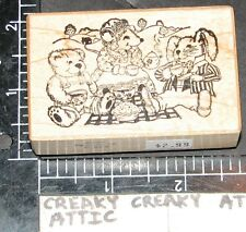 PSX MOUSE RABBIT BEAR PICNIC RUBBER STAMPS RETIRED