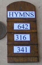 1:12 Scale Wooden Hymn Board Tumdee Dolls House Miniature Church Accessory