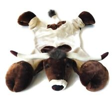 "Carstens Cow Longhorn Kids Faux Fur Skin Animal Rug Steer 68"" Brown Farm Animal"
