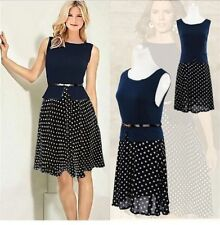 Chiffon Plus Size Spotted Dresses for Women