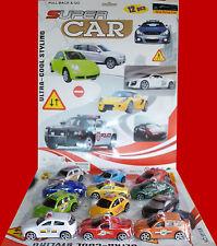 Nuevo conjunto de todos los modelos de plástico Mini 12 carreras de coches Tire & Go Niños Juguete UK