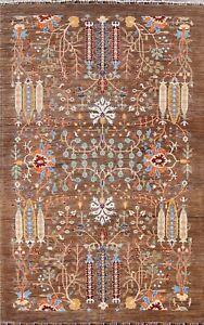 Vegetable Dye Floral Super Kazak Oriental Area Rug Hand-knotted Wool Carpet 6x9