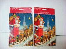 nos LOT 2 x 15 sealed Santa Claus postcards 2 packages 15 pieces each CARLTON