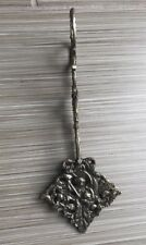 Antique Italy Naked Woman Victorian  Ornate Repousse Floral Pastry Tongs