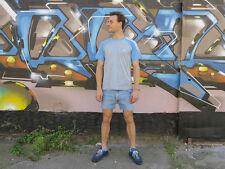 adidas Herren Sportshirt grau hellblau 90s True Vintage men sport shirt Gr. 176