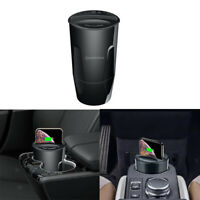 Qi Wireless Charger Car Cup Mount Fast Charging Holder For iPhone XR/XS/8 Plus