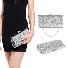 Dazzling Sparkling Glitter Bling Shiny Evening Party Clutch Bag Womens Handbag