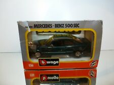 BBURAGO 0111 MERCEDES BENZ 500 SEC - GREEN 1:24 - VERY GOOD IN BOX
