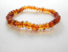 bracelet Sold by manufacturer. Ta-1388 True Baltic Amber baroque cognac