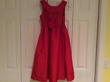 GORGEOUS US ANGELS RED DRESS W/ FLOWER ACCENT BELT! GIRLS 10 $99.00+ MUST SEE!!!